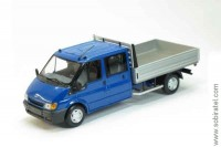 Ford Transit Flatbed double cab (2000), blue