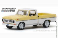 Ford F-100 pick-up 1970 pinto yellow / pure white (Greenlight 1:43)