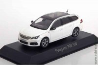 Peugeot 308 SW GT Line 2017 pearl white (Norev 1:43)