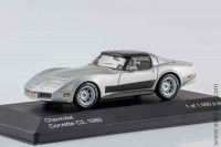Chevrolet Corvette C3 coupe 1980, silver/black, WB 1:43