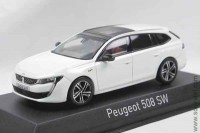 Peugeot 508 SW GT 2018 pearl white (Norev 1:43)