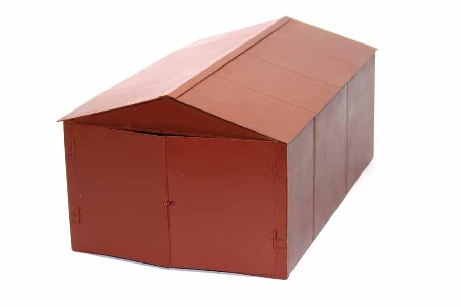 Металлический гараж коричневый купить гараж в хабаровске фото